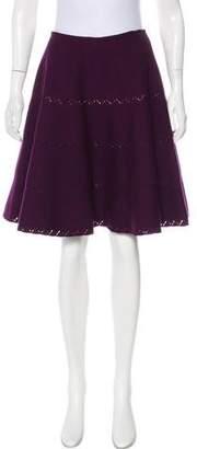 Alaia Flared Wool Skirt