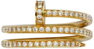 Cartier Yellow Gold and Pavé Diamond Double Juste un Clou Ring