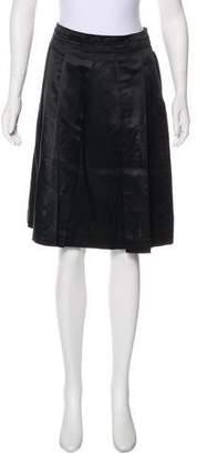 White + Warren Knee-Length Silk Skirt