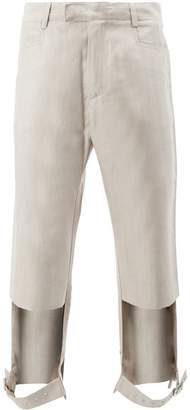 Delada cut out belted trousers