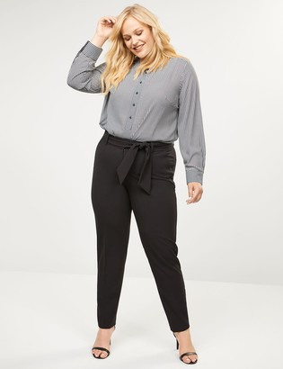 Lane Bryant Allie Tailored Stretch Ankle Pant - Tie Waist