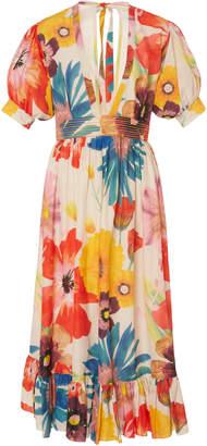 Carolina K. Greta Floral Midi Dress