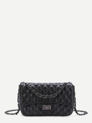 Shein Quilted Crossbody Chain Bag