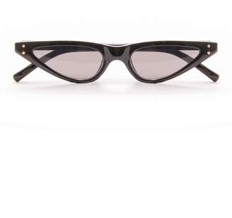 Missy Empire Missyempire Kelis Black Thin Cat Eye Retro Sunglasses