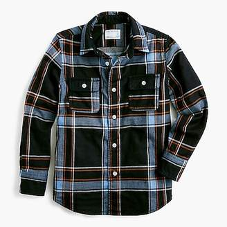 J.Crew Boys' flannel shirt in blue plaid