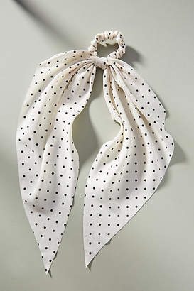 Anthropologie Mae Dotted Scarf Ponytail Holder