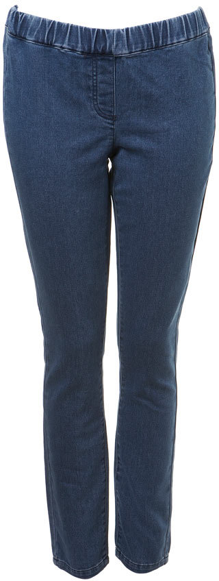 Mid Wash Denim Ankle Leggings