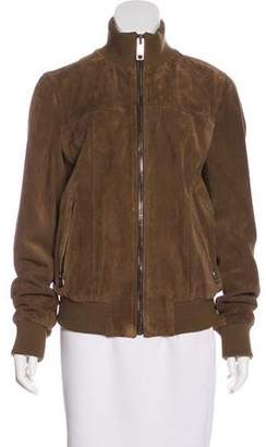 Dolce & Gabbana Zip-Up Suede Jacket