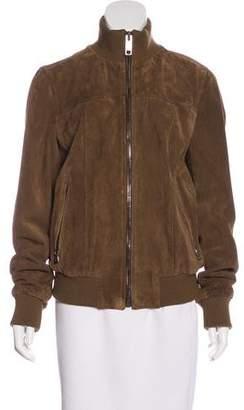 Dolce & Gabbana Zip-Up Suede Jacket