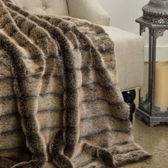 Plutus Brands Plutus Frost Mink Dark Brown Faux Fur Luxury Throw