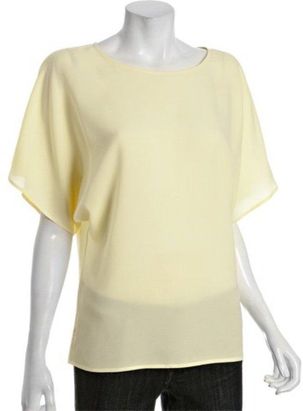 ADAM yellow silk dolman sleeve top