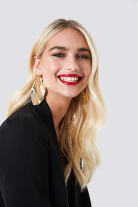 Na Kd Accessories Oversize Curved Leave Earring