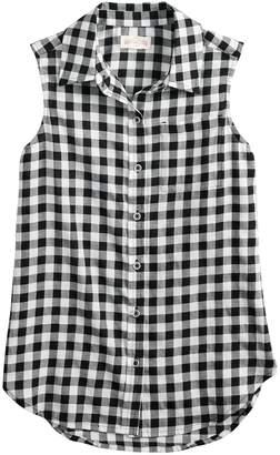 So Girls 7-16 SO Button-Down Shirt