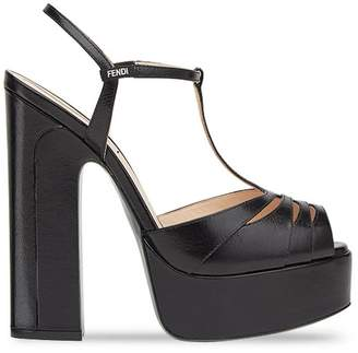 Fendi cut out platform sandals