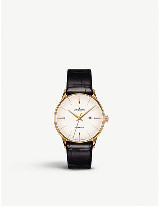 Junghans 027/7845.00 Meister Damen gold-plated and leather watch