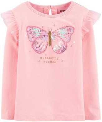 Carter's Toddler Girl Butterfly Flutter Jersey Tee