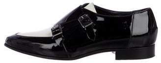 Jimmy Choo Patent Leather Buckle Oxfords