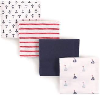 Luvable Friends 4 Piece Flannel Receiving Blankets