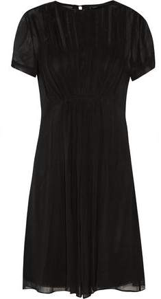 Marc By Marc Jacobs Pleated Silk-Georgette Mini Dress