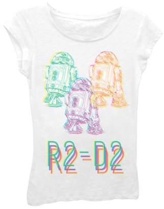 "Star Wars Girls' ""R2-D2"" Short Sleeve Graphic T-shirt"
