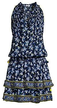Poupette St Barth Women's Amora Tiered Blouson Dress