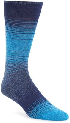 Men's Bugatchi 'Alternating Ombre' Stripe Socks $19.95 thestylecure.com