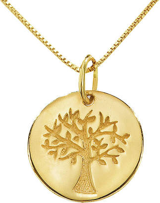 JCPenney FINE JEWELRY 14K Yellow Gold Family Tree Pendant Necklace
