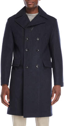 MICHAEL Michael Kors Cadet Blue Double-Breasted Coat