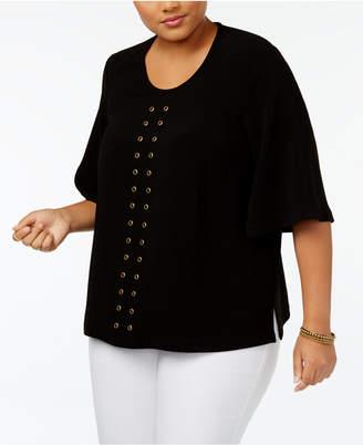 Melissa McCarthy Trendy Plus Size Embellished Top
