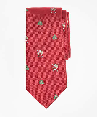 Brooks Brothers Boys Santa and Christmas Tree Print Tie