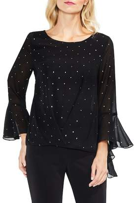 Vince Camuto Gilded Diamonds Bell Sleeve Blouse