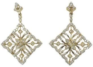 18K Yellow Gold and Diamond Kites Earrings