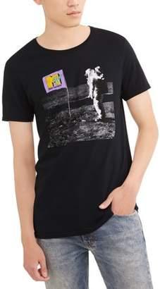 Music MTV Astronaut Big Men's Graphic T-shirt