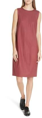 Eileen Fisher Boiled Wool Jersey Crewneck Shift Dress