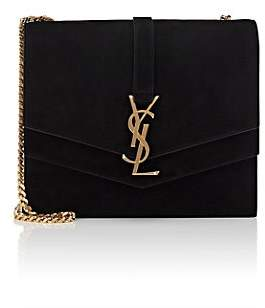 1bc539c4553 Saint Laurent Women s Monogram Montaigne Medium Suede Chain Bag - Black
