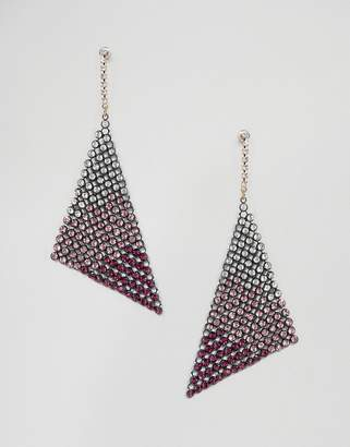 Asos DESIGN earrings in ombre crystal chainmail design
