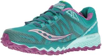 Saucony Women's Peregrine 7 Running Shoes, Teal/Purple/Citron