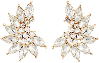 Lydell NYC Curved Crystal Cluster Stud Earrings $30 thestylecure.com