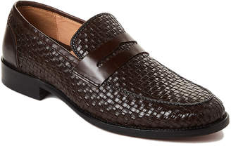 Robert Graham Brown Foster Woven Penny Loafers