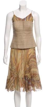 Akris Silk Knee-Length Skirt Set