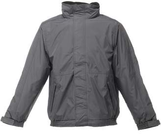 Regatta Mens Dover Waterproof Windproof Jacket (S) (Seal Grey/Black)