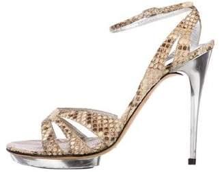 Dolce & Gabbana Snakeskin Platform Sandals