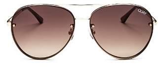 Quay Women's Cool Innit Brow Bar Aviator Sunglasses, 56mm