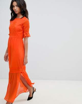 Y.A.S Lace Embroidered Maxi Dress