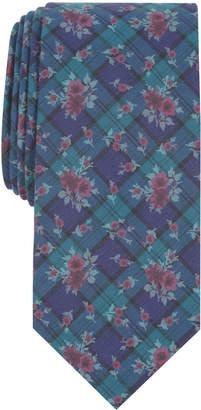 Bar III Men Blackwatch Floral Skinny Tie