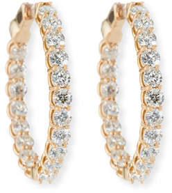 American Jewelery Designs Large Diamond Hoop Earrings in 18K Rose Gold