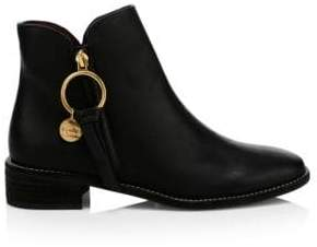 Chloé Ring Leather Ankle Boots