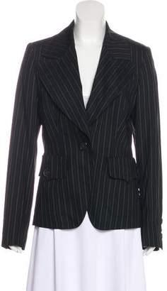 Burberry Pinstripe Wool Blazer w/ Tags