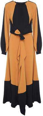 Proenza Schouler Tie-waist Ruffled Crepe Long Dress