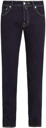 Jacob Cohen Contrast-stitch mid-rise slim-leg jeans